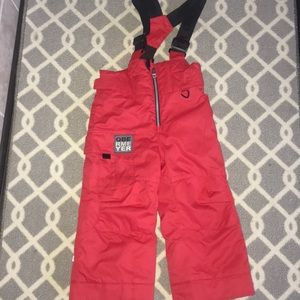 Obermeyer snow bib size 3 excellent used Red